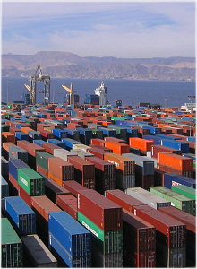 containers attendant à Aqaba